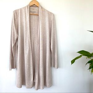 Joan Vass cardigan in a viscose knit.